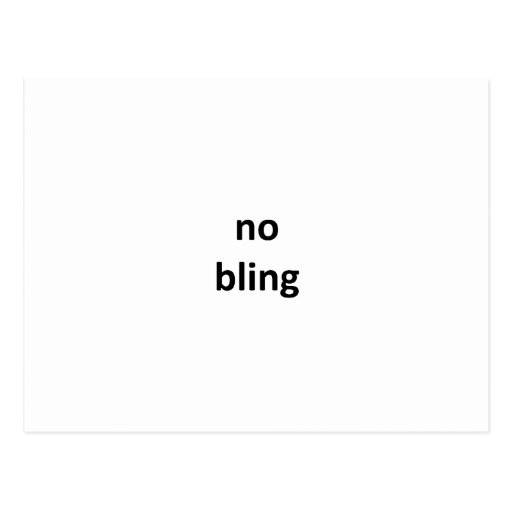 no bling2 jGibney The MUSEUM Zazzle Gifts Postcards