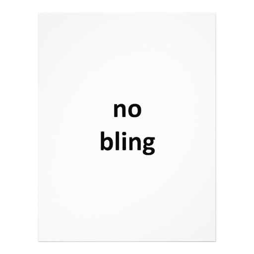 no bling3 jGibney The MUSEUM Zazzle Gifts Letterhead Design