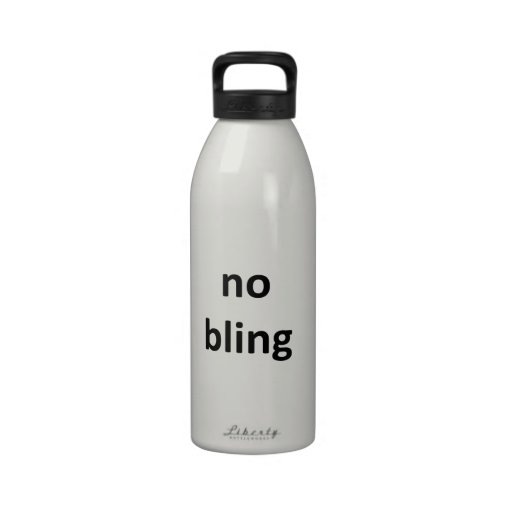 no bling jGibney The MUSEUM Zazzle Gifts.png Water Bottles
