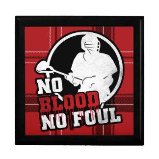 No Blood No Foul Lacrosse Tile Box Keepsake Boxes