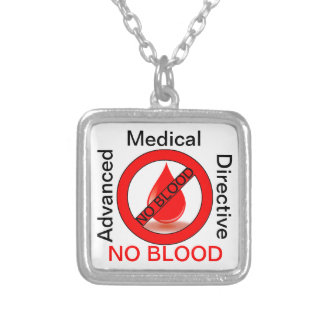 No Blood Silver Plated Necklace