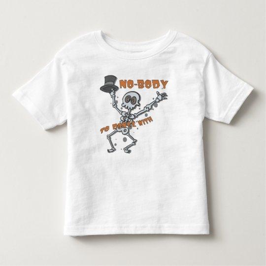 """NO-BODY"" Childrens Halloween Toddler Shirt"