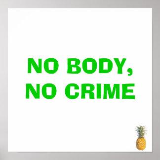 NO BODY,NO CRIME POSTER