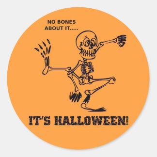 No Bones Round Sticker