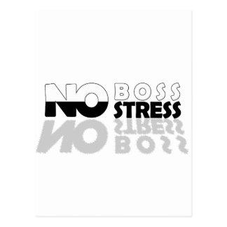NO Boss NO Stress Postcard
