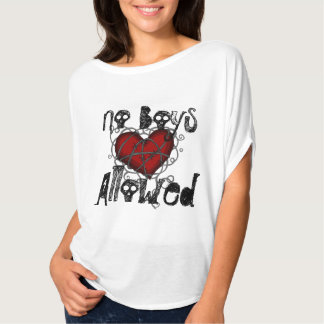 No Boys Allowed Barbed Wire Heart Tee