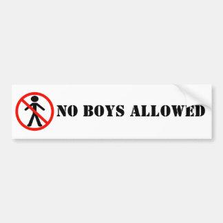 No Boys Allowed BumperSticker Bumper Sticker