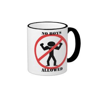 No Boys Allowed Ringer Coffee Mug