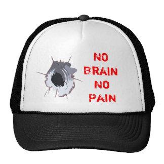 No Brain No Pain Trucker Hat