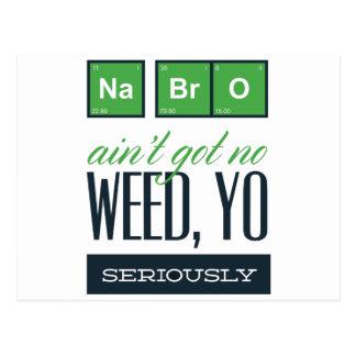 no bro, ain't get no weed seriously postcard