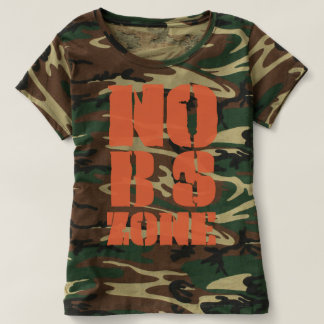 No Bs Zone Woman's camouflage t-shirt