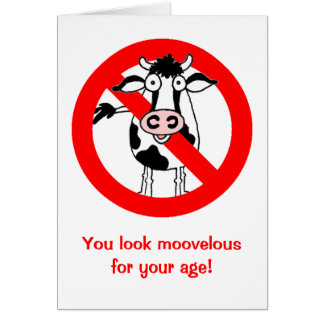 NO BULL! Over the hill birthday card. Greeting Card