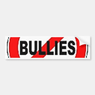 no bullies bumper sticker