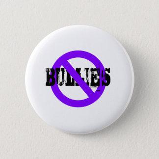 No Bullies purple 2 Inch Round Button