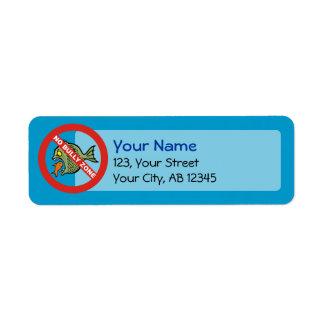 No Bully Zone Return Address Label