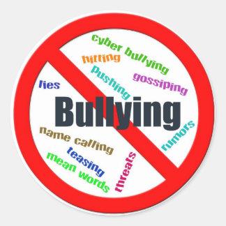 No Bullying Sticker (Round)