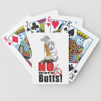 NO BUTTS - Stop Smoking Bicycle Playing Cards
