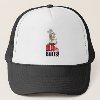 NO BUTTS - Stop Smoking Trucker Hat