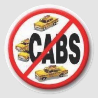 No Cabs (scabs) Classic Round Sticker