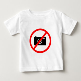 No Cameras Allowed, no pictures, don't take photos Baby T-Shirt