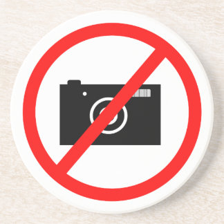 No Cameras Allowed, no pictures, don't take photos Coaster
