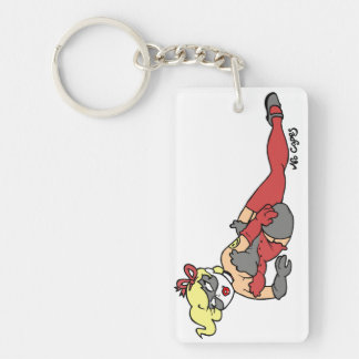 No Capes V Supervillain inspired Pin-Up Keychain Acrylic Keychains