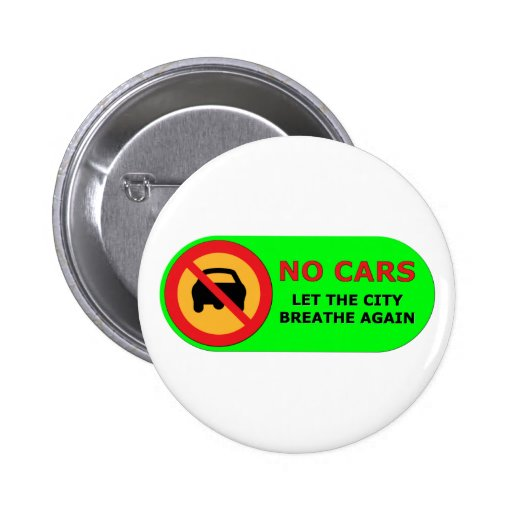 No Cars in the City Pins