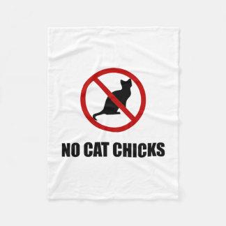 No Cat Chicks Fleece Blanket