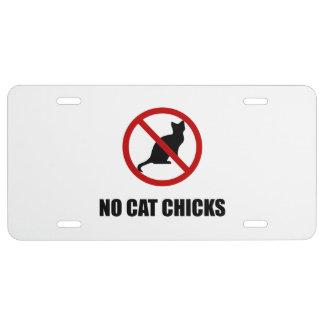 No Cat Chicks License Plate