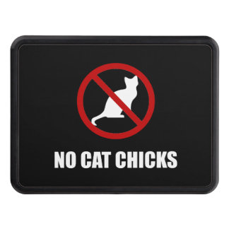 No Cat Chicks Trailer Hitch Cover