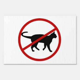 No Cats Yard Sign