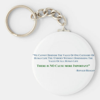 no cause more important 2 basic round button keychain