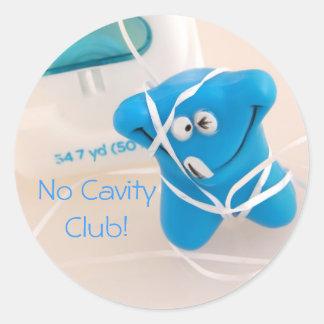 No Cavity Club! Classic Round Sticker