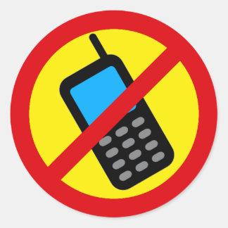 No Cell Phone Use Design Round Sticker