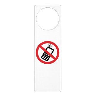 No Cell Phones Door Knob Hangers