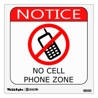 No Cell Phones Wall Sticker