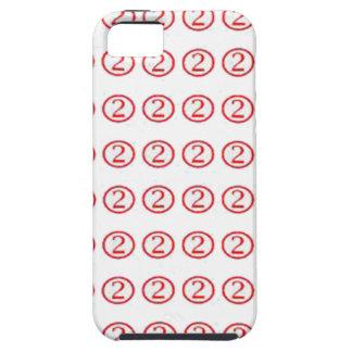 No. chanceux DEUX 2 : Le cadeau encerclé par rouge Étuis iPhone 5