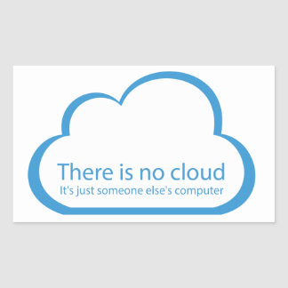 No cloud sticker