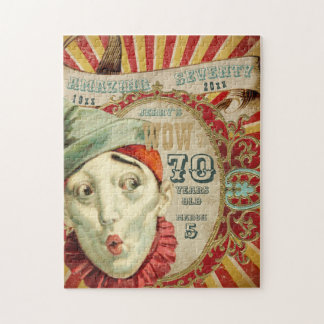 No Clowning, It Is Birthday Number Seventy Jigsaw Puzzle