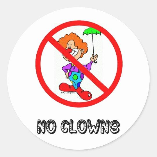 NO CLOWNS STICKER