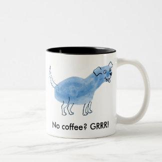 No coffee? GRRR! Two-Tone Coffee Mug