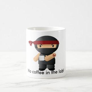 No coffee in the lab, Giga ninja! Coffee Mug