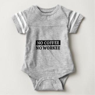 No Coffee No Workee Baby Bodysuit