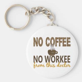 No Coffee No Workee Doctor Basic Round Button Keychain