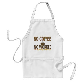No Coffee No Workee Inventory Control Manager Apron