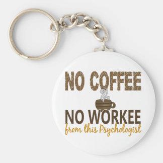 No Coffee No Workee Psychologist Basic Round Button Keychain