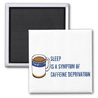 No Coffee Square Magnet