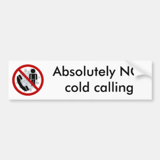NO cold calling Door Sticker