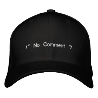 No Comment Embroidered Baseball Caps