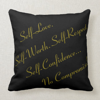 "No Compromise ""20x20"" Throw Pillow - P1"